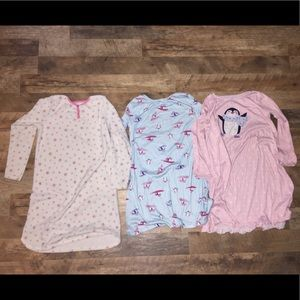 (3) Carters Nightgowns size 8-10 (L)